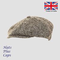 Mens flat black grey cap 8 panel newsboy baker boy hat Shelby peaky blinders cap