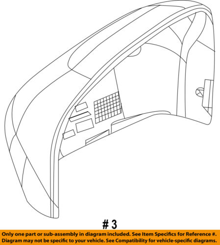 Jeep CHRYSLER OEM Door Side Rear View-Mirror Cover Cap Trim Left 6LL31KXJAA