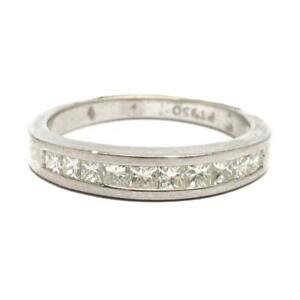 LADIES-Platinum-Channel-Set-0-5-CTW-VS-Diamond-Ring-Band-SIZE-5-5-very-nice