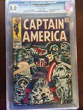 Captain America #107 1st Doctor Faustus  CGC 8.0 (Nov 1968)