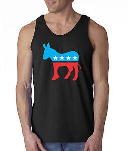 allwitty 1011 - Men's Tank-Top Democrat Donkey Mascot ...