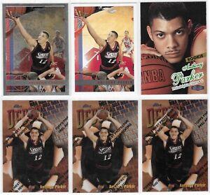 1997-98-Anthony-Tony-Parker-Rookie-Lot-6-Finest-Debut-Topps-Chrome-Fleer-Ultra