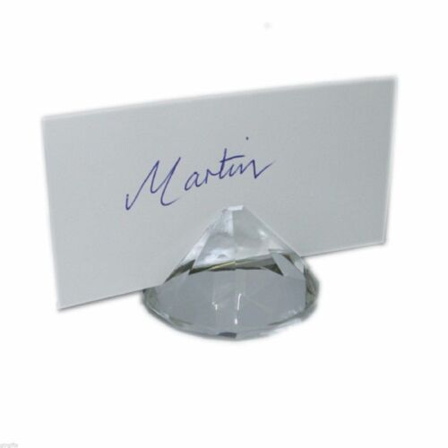 XN38594 Pack of 2 5cm Crystal Diamond Look Place Card Holder
