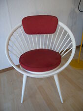 50er Vintage Easy Circle Chair Design Yngve Ekström Swedese Mid Century Sessel