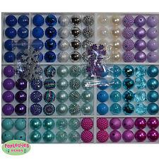 20mm Chunky Beads LOT 120 count  Gum Ball Bubblegum FROZEN