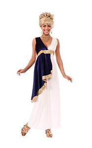 White and Navy Grecian Ladies Adult Costume, STD, Rubies 810035