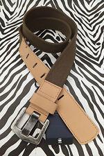 G-STAR RAW Webbing Belt 89105A MURPHY Oilve Flat Cotton Buckle Belts BNWT RRP£45