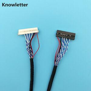 DF19-20Pin single 1ch 6bit LVDS cable for 10inch~14inch LCD Panel 26cm//260mm