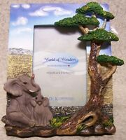 Picture Frame Jungle Elephants 7 ½ X 8 ½ For 4 X 6 Picture Or Mirror