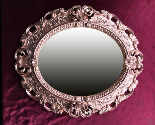 Wandspiegel Spiegel Rose Kupfer OVAL 45x38 BAROCK Antik Vintage Barockspiegel