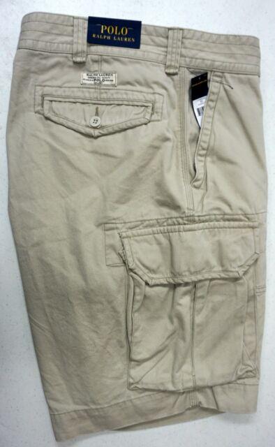 520149b06 NWT  75 Polo Ralph Lauren Gellar Fatigue Cargo Shorts Mens Lt Tan Size 30  NEW