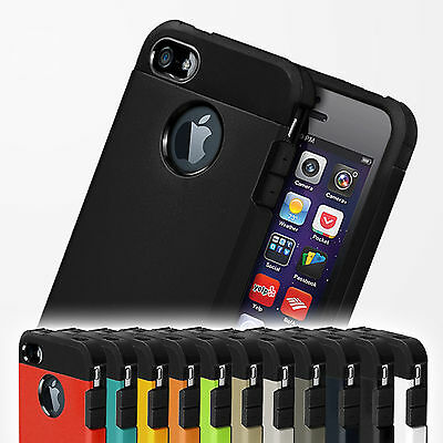Shockproof Tough Case Armor Cover for Apple iPhone 4s 4