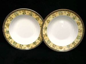 2-WEDGWOOD-INDIA-PASTA-BOWLS-PLATES-11-034-28cm-BEST-QUALITY-amp-NEW-FROM-SHOP-G1