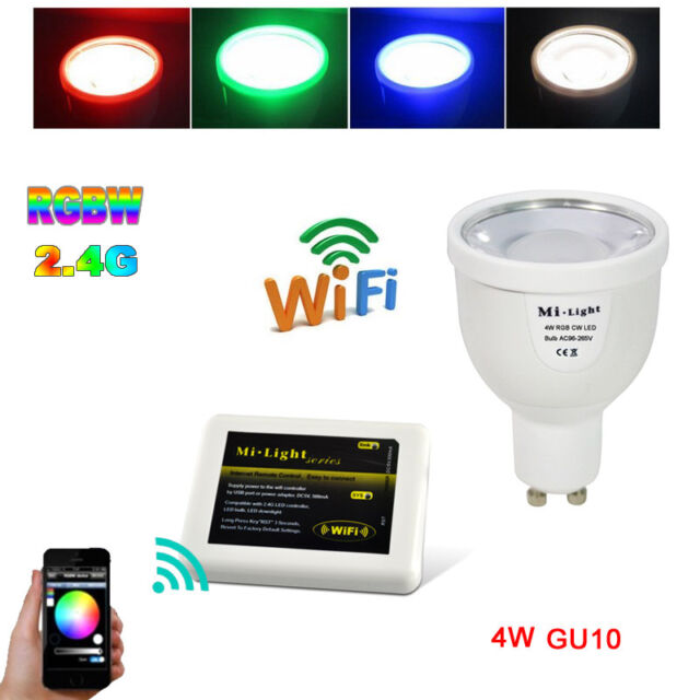 Milight 2.4G 4W GU10 RGBW RGB Warm White/RGB Cool White WIFI Controll Bulb Light