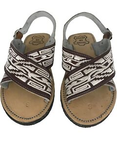 a82e7174388d new! MENS LEATHER MEXICAN two strap PITEADO GRABADO SANDALS HUARACHE ...