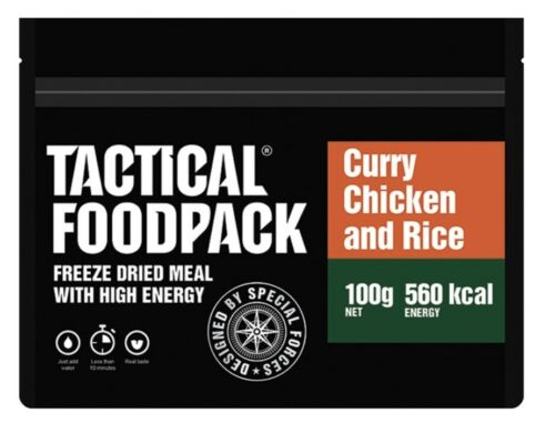 TACTICAL FOODPACK Army Outdoor Camping MRE Verpflegung Nahrung RICE AND CHICKEN
