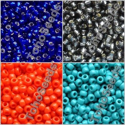 Toho Round 3mm Size 8//0 Seed Beads Transparent Lustered Smoke 10g L47//4