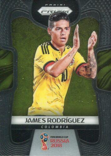 Panini Prizm Coupe du monde 2018 BASE CARD #38 James Rodriguez Colombie