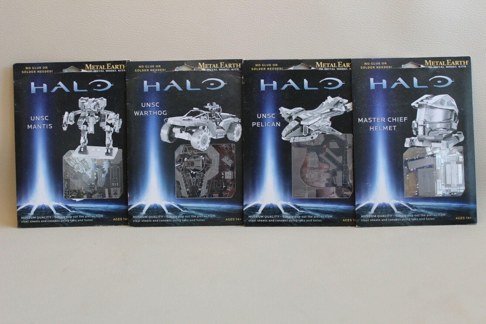 4 Mini maquettes métalliques HALO - Metal Earth 3D Laser Cut