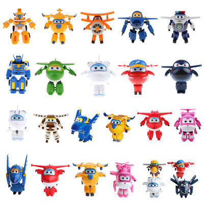 Animation Super Wings Character Plane Transforming Vehicle Toy Action Figures
