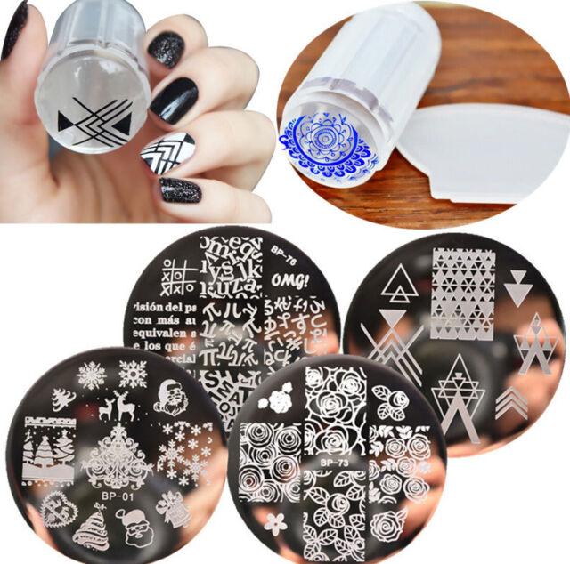 6pcsset Born Pretty Nail Art Stamping Plate Stamper Scraper