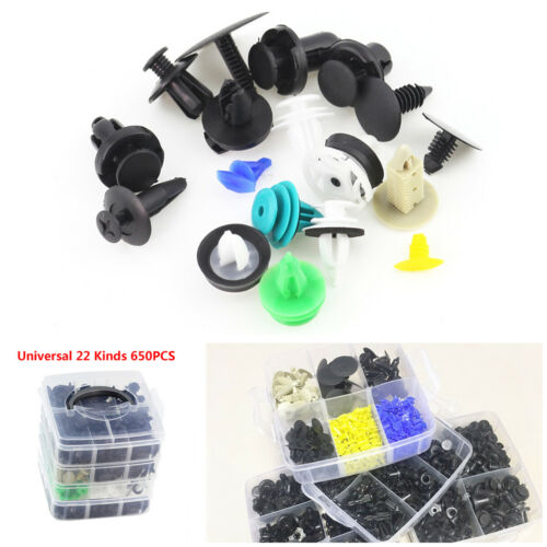 650Pcs//set Car Truck Door Bumper Trunk Fender Retainer Push Rivet Fastener Clips