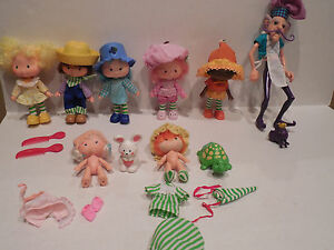 VTG-Lot-1979-1st-Issue-Flat-Hand-amp-1980s-STRAWBERRY-SHORTCAKE-DOLLS-PETS-amp-MORE