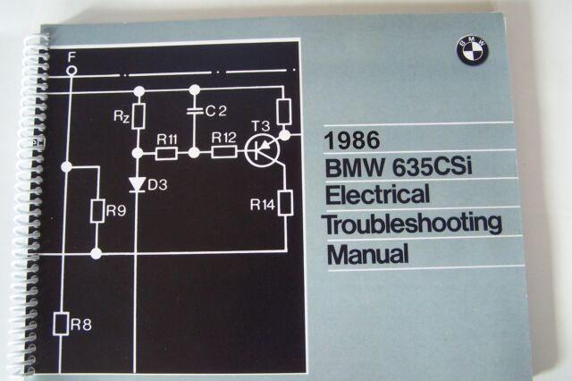 1986 Bmw 635 Csi Owners Electrical Troubleshooting Service Manual Wiring New