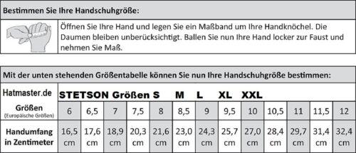 STETSON FINGERHANDSCHUHE LEDERHANDSCHUHE HANDSCHUHE HIRSCH NAPPA 9497903 BRAUN