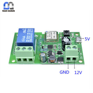 Self-locking-Sonoff-WiFi-Wireless-Smart-Switch-Home-Relay-Module-5V-32V