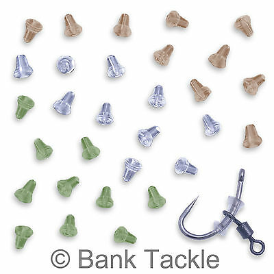 Hook Stops Beads Clear x50 Carp Tackle Rubber Ronnie Rigs Fishing Terminal
