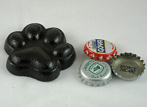 Black Dog Paw Cast Iron Bottle Opener Old Fashioned