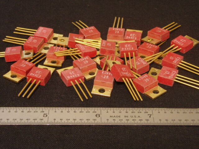 Qty 26: Vintage Gold Plated GE Power Transistors D44C3 Working Scrap Salvage NOS