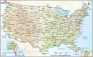 Details about USA Map with Major Cities (Wall Map) 36\