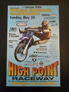 High Point Motocross Racing Poster Motorcycle Jeremy McGrath Yamaha Chaparral