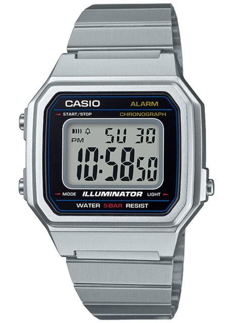 Casio B650WD-1A Men's Vintage Classic Metal Band Alarm Chronograph Digital Watch