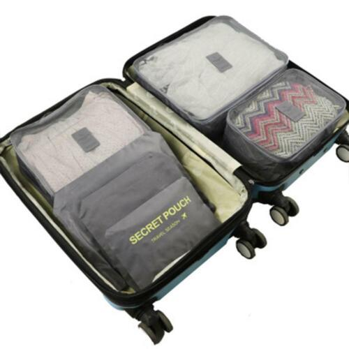 6PCS Waterproof Travel Storage Bags Clothes Packing Cube Luggage Organizer Pouch