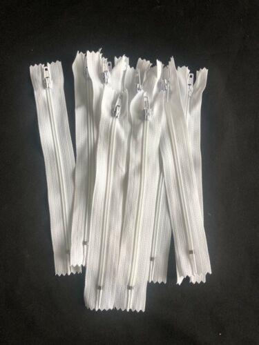 4 Inch White Metal Teeth Close Ended Zips 10pcs Top Quality
