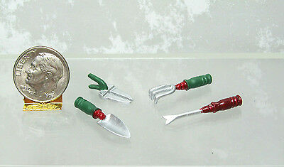 Dollhouse Miniature or Fairy Garden Spade, Clipper, Cultivator, Trimmer