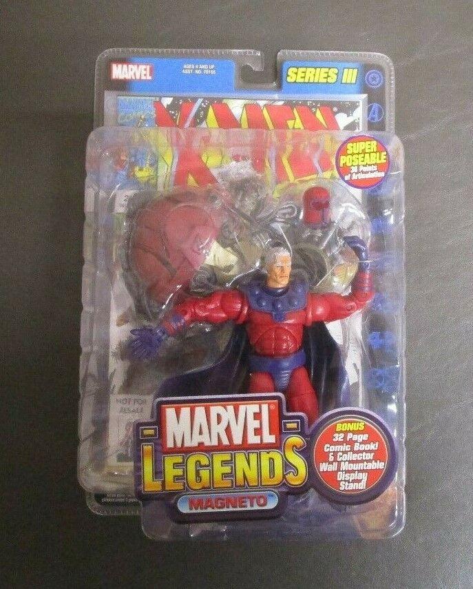 Magneto 2003 Series III 3 MARVEL LEGENDS Toy Biz MIB GV