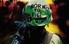 """Enmarcado impresión Full Metal Jacket """"Nacido para matar"""" Casco (Imagen Arte Cartel De Cine)"""