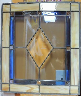 """Antique Vintage Stained Glass /& Slag Window Panel Pieces 11-7//8/"""" x 7-3//4/"""" x 1//8/"""""""