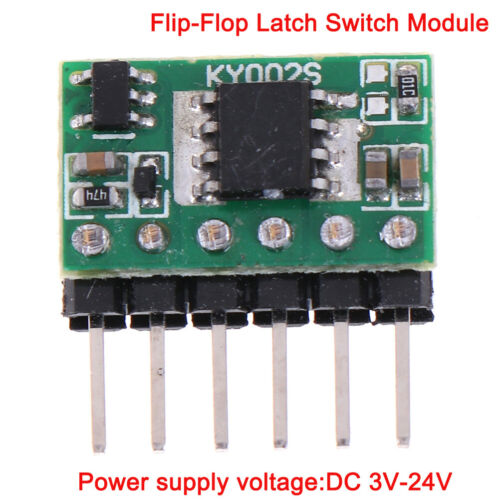 3V-24V 5Aflip-flop latch switch module bistable single buttons 5000mA LED relayH