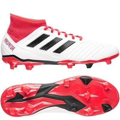 adidas Predator 18.3 FG 2018 Soccer Cleats Shoes Brand New White Black Red  | eBay