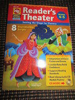 Weekly Reader Theater 8 Reproducible Scripts Book & Cd Unused Grades 4 5