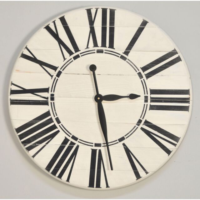 Brandtworks Vintage Farm To Home Oversized Wall Clock White 36w X 36h In For Sale Online Ebay