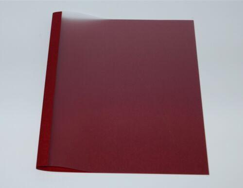 Thermobindemappen 1,5 mm Bindemappen Leinen rot