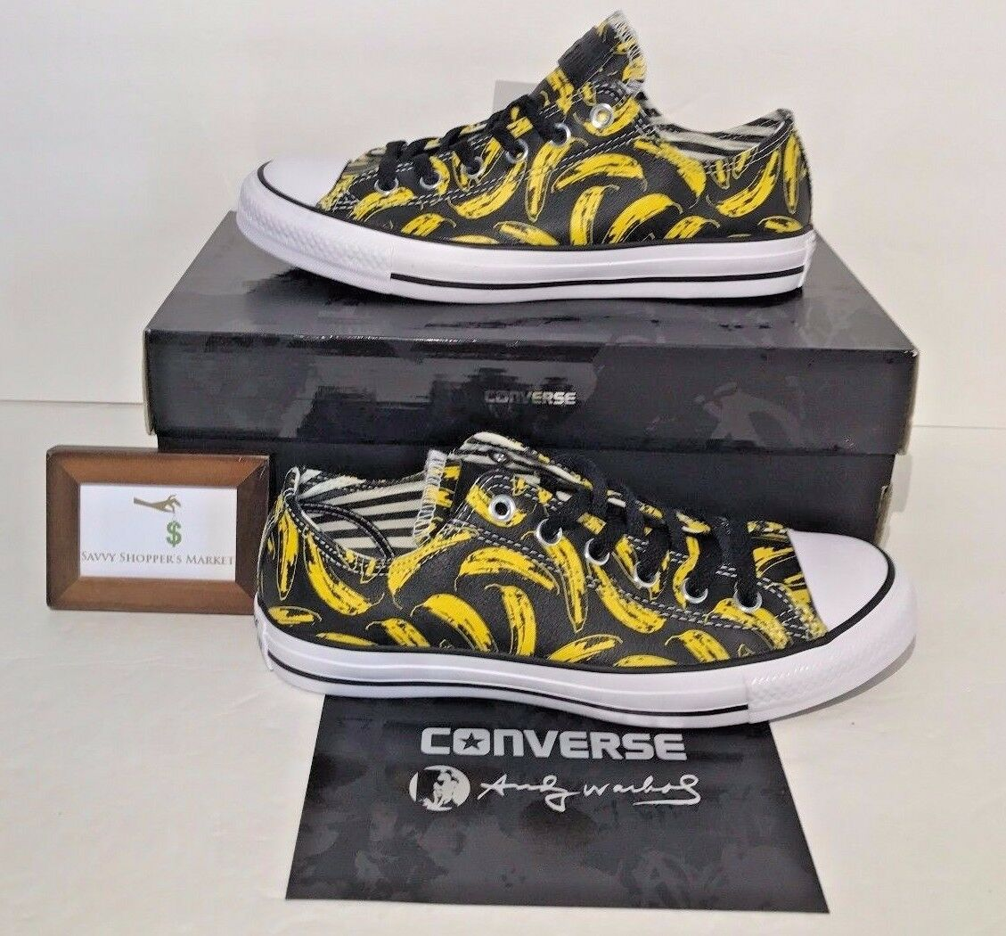 Converse Womens Size 6 Chuck Taylor All Star Andy Warhol Ox Banana Low Leather