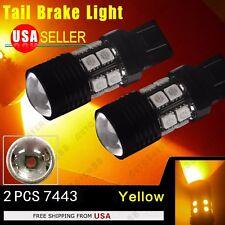 2X 7443/7440 Amber Yellow High Power 7W LED Turn Signal Blinker Light bulbs