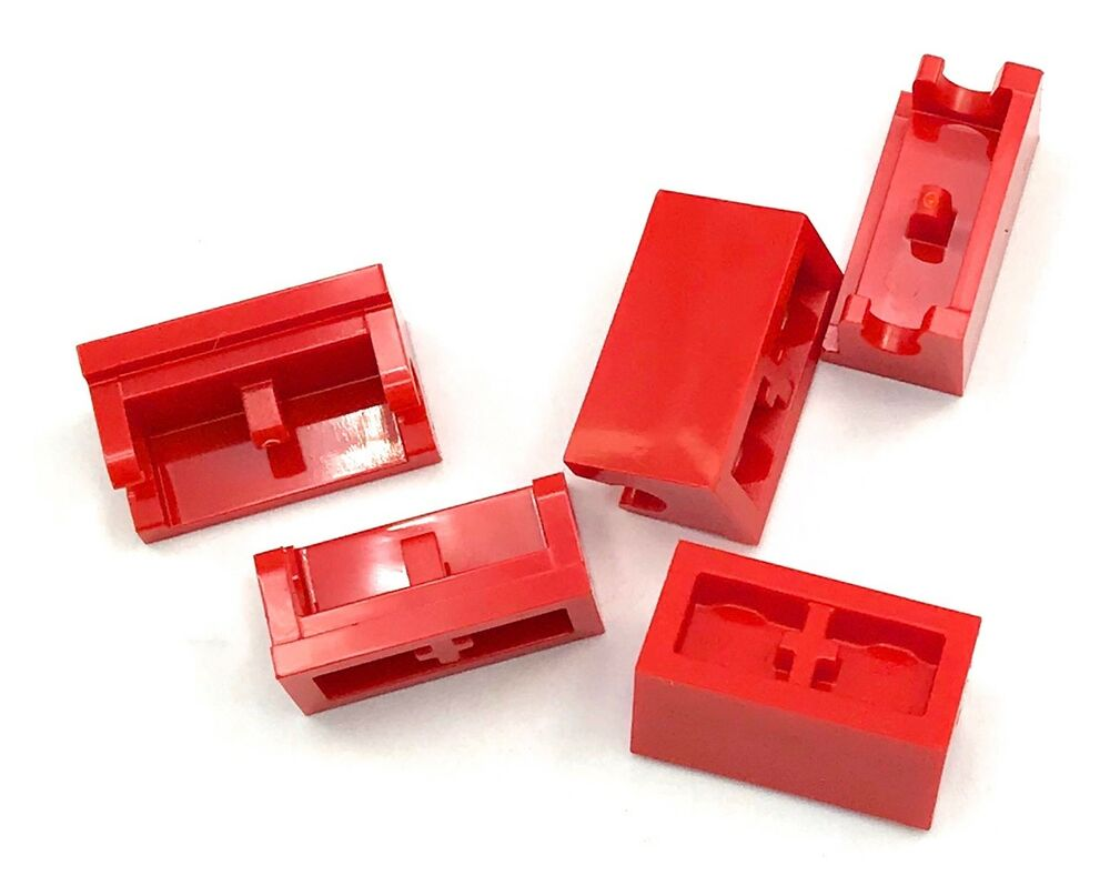 NEUF LEGO 20x brun rougeâtre plaque 1x2 Pull 15573